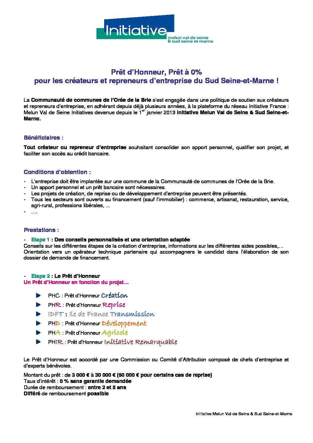 Creation entreprise Sud Seine-et-Marne