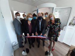 Inauguration de la cabine médicale connectée